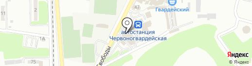Магазин одежды для дома и отдыха на карте Макеевки