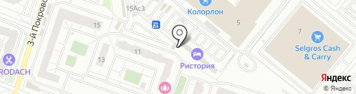 Магазин фруктов и овощей на карте Котельников