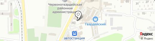 Гвардейский на карте Макеевки
