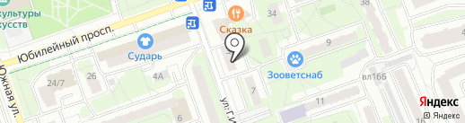 Единая Россия на карте Реутова