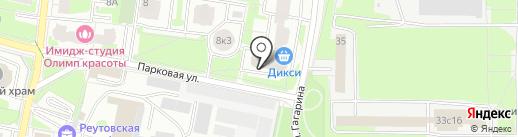 Старый город на карте Реутова