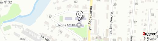Макеевская общеобразовательная школа I-III ступеней №18 на карте Макеевки