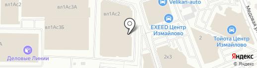 Карекс на карте Балашихи