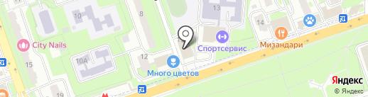 Заря на карте Реутова