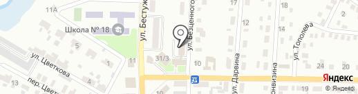 Червоногвардейский районный отдел Макеевского ГУ ГУМВД Украины в Донецкой области на карте Макеевки