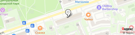 Магазин мебели и фурнитуры на карте Реутова