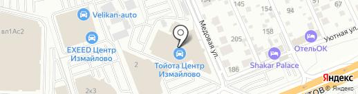 Тойота Центр Измайлово на карте Балашихи