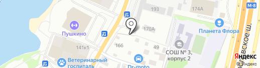 РосЦвет на карте Пушкино