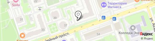 Перекресток на карте Реутова