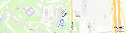 Магазин сантехники и инструментов на карте Пушкино