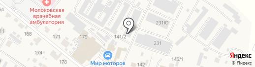 Молоковский моторный центр на карте Молоково