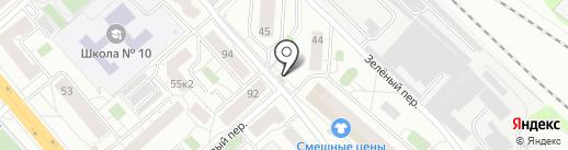 Магазин мясной продукции на карте Люберец