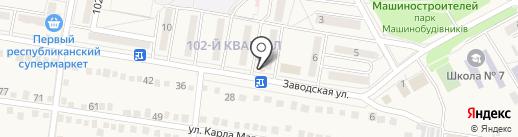 Виктория, продуктовый магазин на карте Ясиноватой