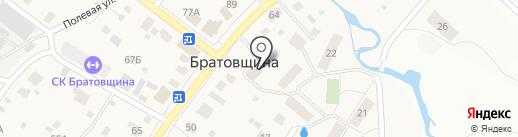 Межпоселенческая библиотека Пушкинского муниципального района, МБУК на карте Братовщиной