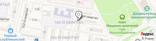 Станция скорой медицинской помощи г. Донецка на карте Ясиноватой