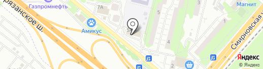Детская школа искусств №4, МОУ ДО на карте Люберец