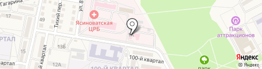 Корона на карте Ясиноватой