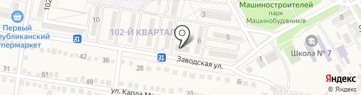 Лидия на карте Ясиноватой