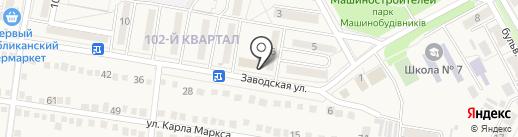 Киоск по продаже печатной продукции на карте Ясиноватой