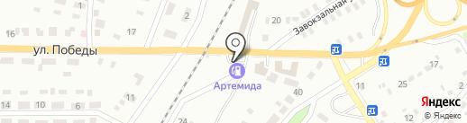 АЗС Артемида на карте Макеевки