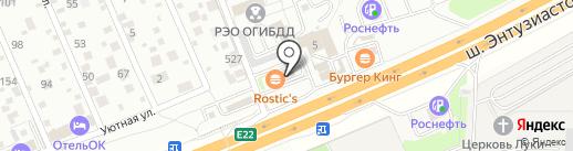 KFC авто на карте Балашихи