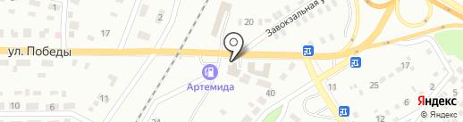 Автомойка на Завокзальной на карте Макеевки