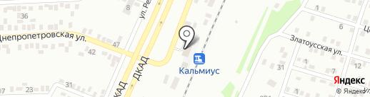 Кальмиус на карте Макеевки