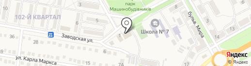 Дніпровські курчата на карте Ясиноватой