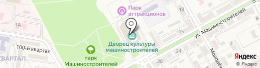 Студия йоги на ул. Машиностроителей (г. Ясиноватая) на карте Ясиноватой