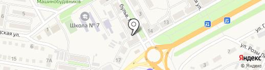 Гастроном №1 на карте Ясиноватой