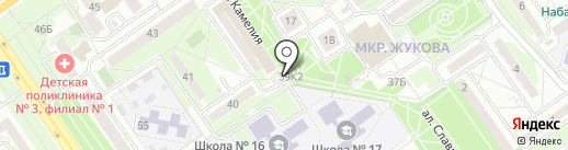 Газетный Двор, киоск по продаже печатной продукции на карте Старого Оскола
