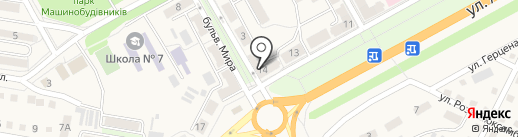 Диана, продуктовый магазин на карте Ясиноватой