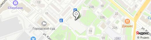 Автостоянка на карте Люберец