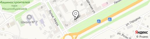 Участковый пункт полиции на карте Ясиноватой