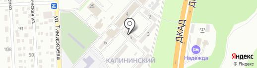 Продовольственный магазин на ул. Калининский микрорайон (г. Макеевка) на карте Макеевки