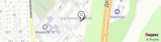 Калининский на карте Макеевки