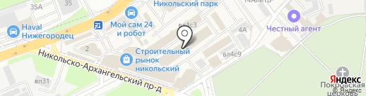 Магазин дверей и теплых полов на карте Балашихи