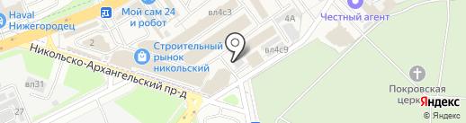 Никольский на карте Балашихи