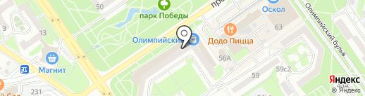 СвязьТелеком, ЗАО на карте Старого Оскола
