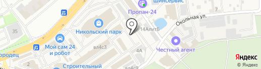 Новодорс на карте Балашихи
