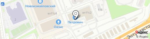 Петрович на карте Балашихи