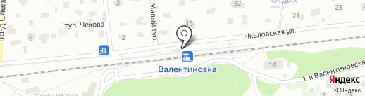 Валентиновка на карте Королёва