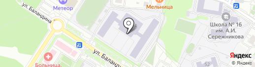 Средняя общеобразовательная школа №21 на карте Балашихи