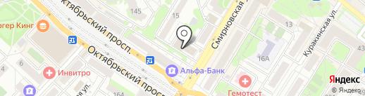 Красное & Белое на карте Люберец