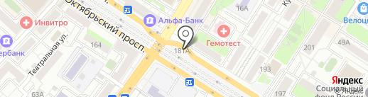 Магазин табачных изделий на карте Люберец