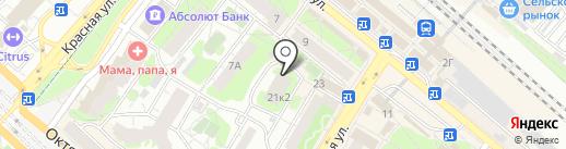 Контур-1 на карте Люберец