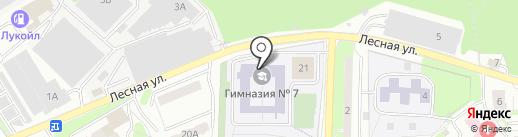Гимназия №7 на карте Лыткарино