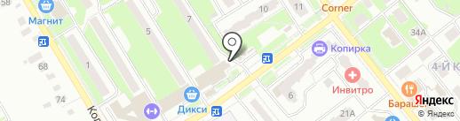 Лыткаринский на карте Лыткарино