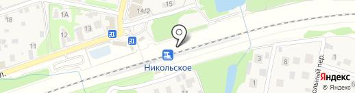Никольское на карте Балашихи