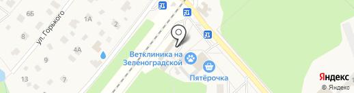 Зеленоградский на карте Зеленоградского